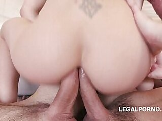 Skinny slut Lola Shine 7on1 Double Anal GangBang with 9 fully loaded Facials | anal ass ass fingering ass lovers