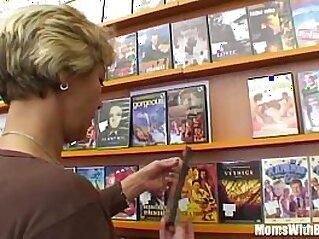 Grandma Miluska Fucking A Young Video Store Clerk   blonde blowjob cougar cum
