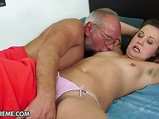 Miss Piss   brunette doggy old and young old man