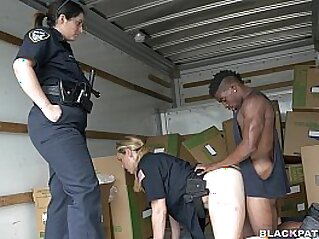 Suspect apprehended in moving truck   black blowjob cfnm group