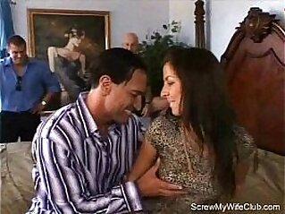 Hairy Amateur Swinger MILF   amateur brunette cougar couple